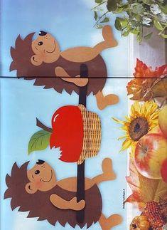 Albumarchiv - Home Page Autumn Crafts, Fall Crafts For Kids, Diy For Kids, Diy And Crafts, Paper Crafts, Autumn Activities, Preschool Activities, Hedgehog Craft, Kindergarten Fun