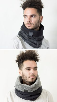 The Ultimate Gift Guide For The Modern Man (40+ Ideas!) |Protect the necks and ears of the men in your life with a cozy, contemporary scarf/hood combo.