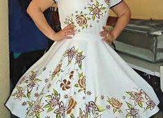 Resultado de imagen para vestidos de huasa chilena 2015 Frocks, Beautiful Dresses, Ball Gowns, Short Sleeve Dresses, Fancy, Formal Dresses, Womens Fashion, Square Dance, Outfits