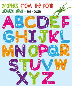 Great letters... and they're FREE!  Wowza Alphabet Clipart For Teaching (By Graphics From the Pond)