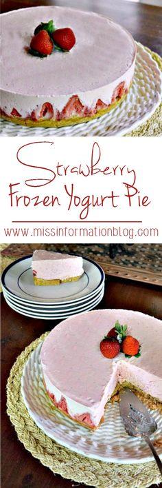 Strawberry Frozen Yogurt Pie – Miss Information