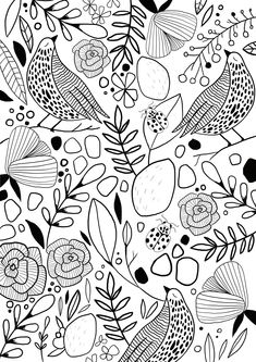 Coloring Sheets, Coloring Pages, Colouring, Little Miss, Easter Crafts, Projects To Try, Doodles, Design Inspiration, Scrapbook