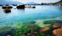 Mãn nhãn với biển xanh ngọc bích đảo Bình Hưng