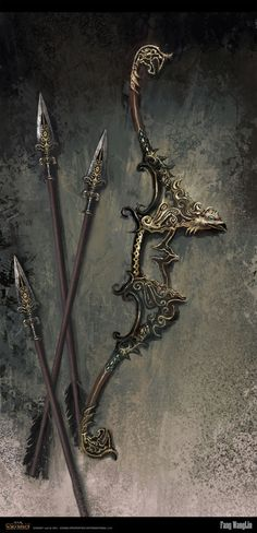 Persian bow Picture  (2d, illustration, concept art, fantasy, weapons, bow)