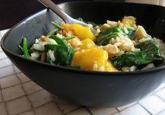 Mangorijst met tempé en spinazie | de groene prinses