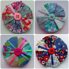 craftypainter: fabric brooches