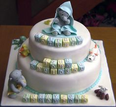 pictures of baby fondant elephants | This cake is also available in pink