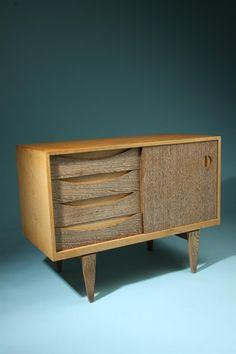 Erik Wörtz; Oak and Wenge Sideboard, 1950s.