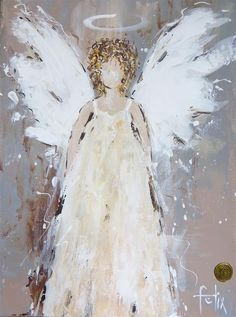 Risultati immagini per anita felix paintings Christmas Angels, Christmas Art, Christmas Paintings On Canvas, Angel Drawing, I Believe In Angels, Angel Pictures, Angel Art, Whimsical Art, Easy Drawings