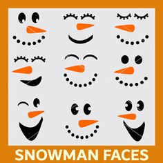 Winter Snowman Faces SVG Cut File and Clipart Bundle – Christmas Crafts Christmas Wood Crafts, Christmas Snowman, Christmas Projects, Holiday Crafts, Christmas Decorations, Christmas Ornaments, Snowman Decorations, Father Christmas, Christmas Trees