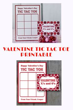 cute valentine printable for tic tac toe with candy #valentinesday #valentinesdaygiftideas #ad #printable