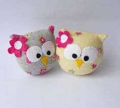 pair sock owls by Treacher Creatures, via Flickr