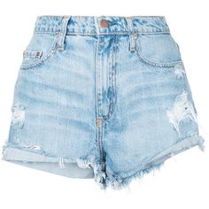 Nobody Denim Blue High Waisted Ripped Shorts, Distressed High Waisted Shorts, Levi Shorts, Nudie Jeans, Slim Jeans, Denim Shorts Style, Blue Shorts, Nobody Denim, Best Jeans
