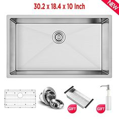 Commercial 30 Inch 10 Inch Deep Stainless Steel Kitchen Sink Handmade Drop  In Undermount Single Bowl