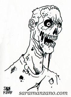 Daily Sketch 04/01/2016 Dibujo, draw , ilustración, illustration, cartoon, sketch, boceto, zombie