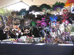 Goblin Art booth at Mardi Gras mask market, 2005