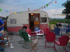 Vintage Trailer Park....I long to have a house and land where I can create something like this.