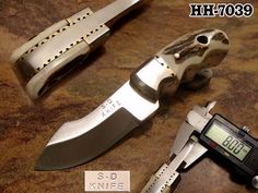 "4"" S.D KNIVES D2 TOOL STEEL  8 MM THICK TACTICAL SKINNING CAMPING KNIFE HH-7039 #OZAIRBLACKHORSESERIES"
