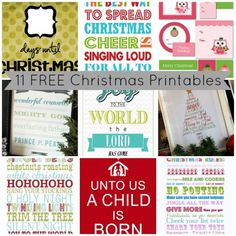 Free Christmas Printables by myblessedlife.net