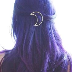 Hipster Fashion: Gold Tone Crescent Moon Hair Clip Barrette