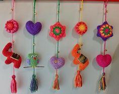 colgantes tejidos al crochet