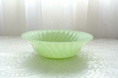 Vintage Anchor Hocking jadeite serving bowl by TouchingThePast for $25.00 #zibbet