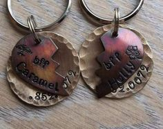Best Friends Forever Torn Hearts TWO TAGS Dog by FetchAPassionTags, $32.00. For my 2 girls :)