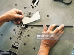 View top-quality stock photos of Leather Factory With Hands Form Cutting Pattern. Find premium, high-resolution stock photography at Getty Images. Leather Factory, Leather Craft Tools, Sewing Leather, Leather Tooling, Still Image, Hands, Projects, Pattern, Shop