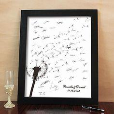 Personalized Signature Canvas Frame - Dandelion (Includes Frame) - USD $ 52.99