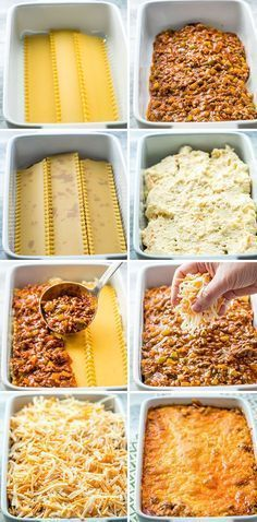 This taco lasagna is saucy, cheesy and delicious. Try this fun twist on your traditional lasagna with lots of Mexican flavors, yet still an easy weeknight and family-friendly meal. Traditional Lasagna, Traditional Mexican Food, Mexican Lasagna Recipe With Noodles, Cheesy Lasagna Recipe, Ground Beef Lasagna Recipe, Easy Lasagna Recipe With Ricotta, Ground Turkey Lasagna, Healthy Lasagna, Keto Lasagna