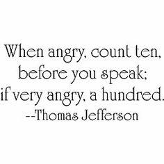 Thomas Jefferson 'Angry' Vinyl Wall Art