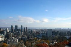 Vue sur Montréal depuis le Belvédère du Mont Royal. Plus sur le Blog !