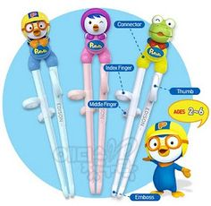 Training chopsticks that actually teach kids the proper finger placement:)