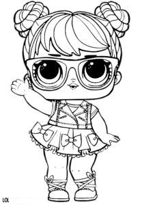 Free Printable Lol Doll Coloring Page Lol Dolls Pinterest Lol