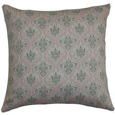 Paulomi Damask Pillow Twill Pink