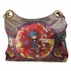 Sac fourre-tout Ketto - Dame en bleu / Ketto Carry all bag - Blue Lady