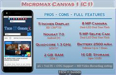 Micromax Canvas 1 (C1) Phone Review,  Complete Pros & Cons with Additional Features Computer Problems, Android Hacks, Step Guide, Quad, Tech, Canvas, Phone, Tecnologia, Tela