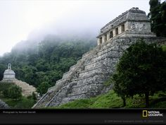 """Palenque, Mexico - the sound of the howler monkeys in the jungle is eerie as hell and many of the temples are still covered in dense vegetation since it was only """"discovered"""" 30 years ago - unforgettable (still want to go back though!)"""
