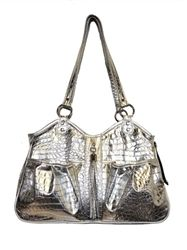 Metro - Silver Gator with Tassel - Carriers - Luxury Carriers Posh Puppy…