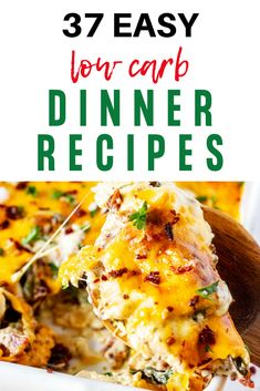 If you are looking for EASY low carb dinner recipes, don't miss these 37 quick options.  They are perfect for those times on a low carb diet that you need to get dinner on the table fast.  The whole family will love these healthy options.  #kickingcarbs #lowccarb #easyketodinner #easyrecipes #ketodinner #keto Low Carb Dinner Recipes, Keto Dinner, Keto Recipes, Breakfast Recipes, Cooking Recipes, Main Course Dishes, Keto Lunch Ideas, Recipes For Beginners, Low Carb Diet