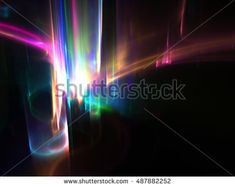 Wide Aurora Borealis  Background - Fractal Art