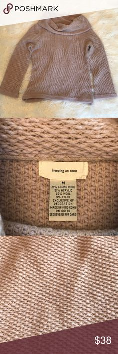 44531dbe73b328 Anthropologie Sleeping on snow cowl neck sweater A beautiful dusty pastel  mauve color! Armpit to armpit Sleeve length hits slightly above the wrist  Bottom ...