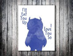 Where the Wild Things Are I'll Eat you up I love you by CheekyAlbi, $15.00