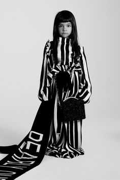 """A pyjama stripe is my perfect day-to-night-night look"" Tallis, 4 Photographed by Toby Coulson. Young Ones, Prince And Princess, Night Looks, Mini Me, Playing Dress Up, My Wardrobe, Kimono Top, Bell Sleeve Top, Pajamas"