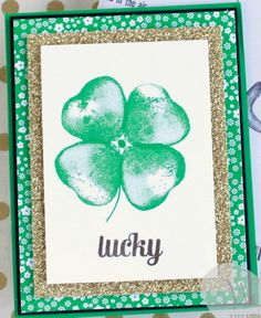 Create a fantastic St Patricks Day shamrock card with the balloon builders stamp set from Stampin' UP! Wendy Cranford www.luvinstampin.com