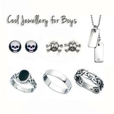 Sterling silver Boys Jewellery collection at Uneak Boutique. Cool styles for your cool little dudes!