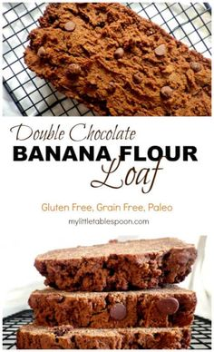 double chocolate banana flour loaf