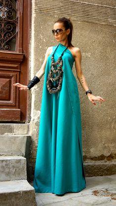 Vestido Maxi verano caliente pino Vestido de lino verde uno vestido Kaftan vestido extravagante largo vestido fiesta vestido de AAKASHA A03144