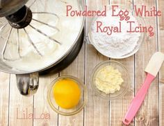 Recipe for creamy smooth royal icing using powdered egg whites.