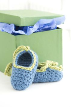 Treat your little princess to these baby booties crocheted in 100% Cashmere by Lion Brand